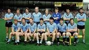 22 September 1985; The Dublin team, back from left, Tommy Conroy, Barney Rock, John Kearns, Brian Mullins, Ray Hazley, John O'Leary, Gerry Hargan and Ciaran Duff. Front, from left, Charlie Redmond, Mick Kennedy, Noel Caffrey, Davy Sinnott, Joe McNally, Pat Canavan and Jim Ronayne. Kerry v Dublin, All-Ireland Football Final, Croke Park, Dublin. Picture credit; Ray McManus / SPORTSFILE