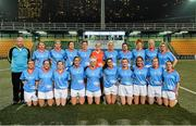 14 March 2014; The 2012 Allstars team, back, from left, William O'Sullivan, Coach, Kerry, Niamh Kindlon, Monaghan, Cora Staunton, Mayo, Catriona McConnell, Monaghan, Ciara O'Sullivan, Cork, Elaine Harte, Cork, Bernie Breen, Kerry, Christina Reilly, Monaghan, Louise Ni Mhuircheartaigh, Kerry, Brid Stack, Cork and Briege Corkery, Cork, with front, from left, Edel Concannon, Galway, Geraldine O'Fynn, Cork, Sarah Houlihan, Kerry, Caroline Hanlon, Armagh, Valerie Mulcahy, Cork, Sinead Goldrick, Dublin, Cáit Lynch, Kerry, Aislinn Desmond, Kerry, Rena Buckley, Cork and Aoife McAnespie, Monaghan. 2014 TG4 Ladies Football All-Star Tour, 2012 Allstars v 2013 Allstars Exhibition match, Hong Kong Football Club, Hong Kong, China. Picture credit: Brendan Moran / SPORTSFILE