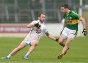 16 March 2014; Darroch Mulhall, Kildare, in action against Shane Enright, Kerry. Allianz Football League, Division 1, Round 5, Kildare v Kerry, St Conleth's Park, Newbridge, Co. Kildare. Picture credit: Pat Murphy / SPORTSFILE