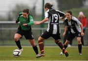 16 March 2014; Aine O Gorman, Peamount United, in action against Pearl Slattery, 19, and Ciara Grant, Raheny United. Bus Éireann Women's National League, Peamount United v Raheny United, Greenogue, Newcastle, Dublin. Picture credit: Piaras Ó Mídheach / SPORTSFILE