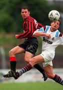 8 May 1999; Tony O'Connor, Bohemians in action against Tony Izzi, Cobh Ramblers.  Bohemians v Cobh Ramblers.  National League promotion/Relegation playoff, 2nd leg. Soccer. Dalymount Park.  Picture Credit; David Maher/SPORTSFILE.