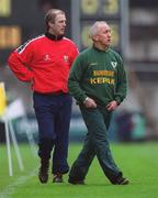 25 April 1999; Meath manager Sean Boylan, right, and Cork manager Larry Tompkins during the Church & General National Football League Division 1 Semi-Final match between Cork and Meath at Croke Park in Dublin. Photo by Ray McManus/Sportsfile
