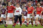 2 October 2005; Cork captain Juliette Murphy leads her team during the pre-match parade. TG4 Ladies All-Ireland Senior Football Championship Final, Galway v Cork, Croke Park, Dublin. Picture credit: Damien Eagers / SPORTSFILE