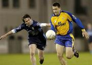 6 October 2005; Senan Connell, Na Fianna, in action against Conor Connelly, St. Jude's. Dublin County Senior Football Semi-Final, Na Fianna v St Jude's, Parnell Park, Dublin. Picture credit: Damien Eagers / SPORTSFILE