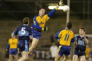 6 October 2005; Na Fianna players Justin McNulty and Thomas Brady, right, in action against St. Jude's Andy Glover, left, and Conor Connelly. Dublin County Senior Football Semi-Final, Na Fianna v St Jude's, Parnell Park, Dublin. Picture credit: Damien Eagers / SPORTSFILE