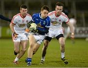 19 March 2014; Barry Fortune, Cavan, in action against Darren McCurry and Thomas McCarron, right, Tyrone. Cadbury Ulster GAA Football U21 Championship, Quarter-Final, Cavan v Tyrone, Kingspan Breffni Park, Cavan. Picture credit: Oliver McVeigh / SPORTSFILE