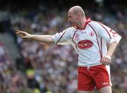 25 September 2005; Chris Lawn, Tyrone. Bank of Ireland All-Ireland Senior Football Championship Final, Kerry v Tyrone, Croke Park, Dublin. Picture credit; Ray McManus / SPORTSFILE *** Local Caption *** Any photograph taken by SPORTSFILE during, or in connection with, the 2005 Bank of Ireland All-Ireland Senior Football Final which displays GAA logos or contains an image or part of an image of any GAA intellectual property, or, which contains images of a GAA player/players in their playing uniforms, may only be used for editorial and non-advertising purposes.  Use of photographs for advertising, as posters or for purchase separately is strictly prohibited unless prior written approval has been obtained from the Gaelic Athletic Association.