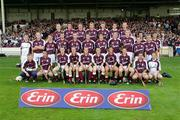 18 September 2005; The Galway squad, back row, from left to right, Martin Nestor, Mark Lane, Roderic White, Kevin Huban, Finian Coone, Donal Reilly and Paul Madden. Middle row, from left to right, Aidan Ryan, Cathal Dervan, Aongus Callinan, Alan Gaynor, Joe Gantley, David Collins, Alan Garvey, Ger Mahon, Barry Cullinane, Brendan Lucas, John Lee, Niall Earls and Tómas Mannion. Front row, from left to right, Kevin Hynes, Brian Costello, Paul Flynn, Kevin Briscoe, Niall Healy, Kerril Wade, Keneth Burke, captain, Eanna Ryan, Damien Kelly and Mark Herlihy. Erin All-Ireland U21 Hurling Final, Galway v Kilkenny, Gaelic Grounds, Limerick. Picture credit; Kieran Clancy / SPORTSFILE