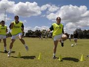 18 October 2005; Ryan McMeniman and Brian Dooher, Tyrone, during a training session, at the Mandurah Football and Sports Club, in advance of the Fosters International Rules game between Australia and Ireland. Mandurah Football and Sports Club, Rushton Park, Mandurah, Perth, Western Australia. Picture credit; Ray McManus / SPORTSFILE