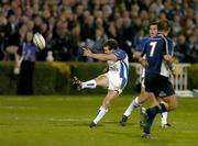 22 October 2005; Chris Malone, Bath, kicks over a drop goal against Leinster. Heineken Cup 2005-2006, Pool 5, Round 1, Leinster v Bath. RDS, Ballsbridge, Dublin. Picture credit: Matt Browne / SPORTSFILE