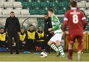28 March 2014; Sligo Rovers manager Ian Baraclough, left, looks on during the game. Airtricity League Premier Division, Shamrock Rovers v Sligo Rovers, Tallaght Stadium, Tallaght, Co. Dublin. Picture credit: David Maher / SPORTSFILE