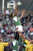 26 November 2005; Donnacha O'Callaghan, Ireland, takes a ball in a lineout. Ireland v Romania, Lansdowne Road, Dublin. Picture credit: Matt Browne / SPORTSFILE