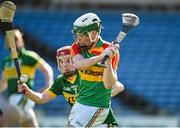 6 April 2014; Marty Kavanagh, Carlow, in action against Keith Carmody, Kerry. Allianz Hurling League, 2A Final, Kerry v Carlow, Semple Stadium, Thurles, Co. Tipperary. Picture credit: Matt Browne / SPORTSFILE