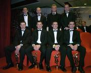 25 November 2005; Tyrone All-Stars, back row from left, Brian Dooher, Peter Canavan, Eoin Mulligan, and Stephen O'Neill. Front row, from left, Conor Gormley, Sean Cavanagh, Philip Jordan and Ryan McMenamin, at the 2005 Vodafone GAA All-Star Awards. Citywest Hotel, Dublin. Picture credit: Brendan Moran / SPORTSFILE