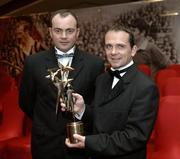 25 November 2005; Clare manager Anthony Daly, with David Fitzgerald, at the 2005 Vodafone GAA All-Star Awards. Citywest Hotel, Dublin. Picture credit: Ray McManus / SPORTSFILE