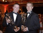 25 November 2005; Damien Hayes, left and Ollie Canning, from Galway, at the 2005 Vodafone GAA All-Star Awards. Citywest Hotel, Dublin. Picture credit: Ray McManus / SPORTSFILE