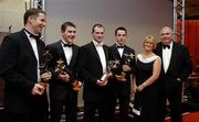 25 November 2005; Armagh players, from left, Paul McGrane, Andy Mallon, Steven McDonnell and Aaron Kernan with Patricia and Joe Kernan at the 2005 Vodafone GAA All-Star Awards. Citywest Hotel, Dublin. Picture credit: Ray McManus / SPORTSFILE