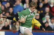 26 November 2005; Andrew Trimble, Ireland, in action against Romania. permanent tsb International Friendly 2005-2006, Ireland v Romania, Lansdowne Road, Dublin. Picture credit: Matt Browne / SPORTSFILE