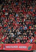 5 April 2014; Supporters during the game. Heineken Cup Quarter-Final, Munster v Toulouse. Thomond Park, Limerick. Picture credit: Diarmuid Greene / SPORTSFILE