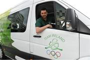 16 April 2014; The Olympic Council of Ireland has been presented with a new Mercedes-Benz Sprinter van by the International Olympic Committee as part of the IOC's Olympic Solidarity programme. The new van is for use by the many national sports federations accredited to the Olympic Council of Ireland. Pictured at the presentation is Barry Murphy, OCI Swimming. Grand Canal Plaza, Dublin. Picture credit: Barry Cregg / SPORTSFILE - read more