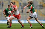 13 April 2014; Mark Lynch, Derry, in action against Donal Vaughan, Mayo. Allianz Football League Division 1 Semi-Final, Derry v Mayo, Croke Park, Dublin. Picture credit: Piaras Ó Mídheach / SPORTSFILE