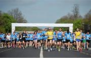 18 April 2014; A general view during the start of The Ray D'Arcy Show Half Million Half Marathon for LauraLynn Children's Hospice, Phoenix Park, Dublin. Picture credit: Tomás Greally / SPORTSFILE