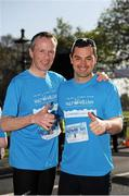 18 April 2014; Gerry Duffy and Karl Henry, before the start of The Ray D'Arcy Show Half Million Half Marathon for LauraLynn Children's Hospice, Phoenix Park, Dublin. Picture credit: Tomás Greally / SPORTSFILE
