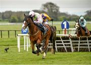 20 April 2014; Daneking, with Paul Townend up, leads Darwins Fox, with Brian O'Connell up, on their way to winning The Boylesports Easter Festival Handicap Hurdle. Fairyhouse Easter Festival, Fairyhouse, Co. Meath. Picture credit: Ramsey Cardy / SPORTSFILE