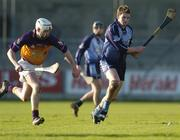 29 January 2006; David Sweeney, Dublin, in action against Eoin Quigley, Wexford. Walsh Cup, Dublin v Wexford, Parnell Park, Dublin. Picture credit: Brian Lawless / SPORTSFILE
