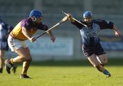 29 January 2006; Tomas McGrane, Dublin, in action against David O'Connor, Wexford. Walsh Cup, Dublin v Wexford, Parnell Park, Dublin. Picture credit: Brian Lawless / SPORTSFILE