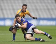 26 April 2014; Philip Austin, Tipperary, in action against Shane Hickey, Clare. Allianz Football League Division 4 Final, Tipperary v Clare, Croke Park, Dublin. Picture credit: Barry Cregg / SPORTSFILE