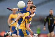 26 April 2014; Kevin Hartnett, Clare, in action against Barry Grogan, Tipperary. Allianz Football League Division 4 Final, Tipperary v Clare, Croke Park, Dublin. Picture credit: Barry Cregg / SPORTSFILE