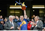 26 April 2014; Tipperary captain Paddy Codd, lifts the cup. Allianz Football League Division 4 Final, Tipperary v Clare, Croke Park, Dublin. Picture credit: Barry Cregg / SPORTSFILE