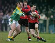 5 February 2006; Martin Cole, Down, in action against Ger Robinson, Meath. Allianz National Football League, Division 1B, Round 1, Down v Meath, St. Patrick's Park, Newcastle, Co. Down. Picture credit: Brendan Moran / SPORTSFILE