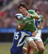 11 February 2006; Shane Horgan, Ireland, is tackled by Christophe Dominici, France. RBS 6 Nations 2006, France v Ireland, Stade de France, Paris, France. Picture credit; Brendan Moran / SPORTSFILE