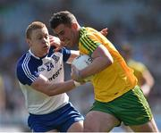 27 April 2014; Patrick McBrearty, Donegal, in action against Colin Walshe, Monaghan. Allianz Football League Division 2 Final, Donegal v Monaghan, Croke Park, Dublin. Picture credit: David Maher / SPORTSFILE