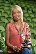 30 April 2014; Stephanie Roche, Peamount United, winner of the Irish Daily Mail Golden Boot Award. Bus Eireann Women's National League Awards, Aviva Stadium, Lansdowne Road, Dublin. Picture credit: David Maher / SPORTSFILE