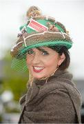 30 April 2014; Sinéad Smullen, from Two Mile House, Co. Kildare, enjoying a day at the races. Punchestown Racecourse, Punchestown, Co. Kildare. Picture credit: Barry Cregg / SPORTSFILE