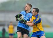 3 May 2014; Paul Mannion, Dublin, in action against Thomas Featherston, Roscommon. Cadbury GAA Football All-Ireland U21 Championship Final, Dublin v Roscommon, O'Connor Park, Tullamore, Co. Offaly. Picture credit: Dáire Brennan / SPORTSFILE