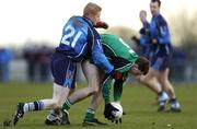 24 February 2006; Gerard O'Kane, Queens University, Belfast, in action against Colin Devlin, University of Ulster, Jordanstown. Datapac Sigerson Cup, Semi-Final, Queens University, Belfast v University of Ulster, Jordanstown, DCU Grounds, Dublin. Picture credit: Brian Lawless / SPORTSFILE