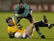 25 February 2006; Brian O'Reilly, DCU, in action against James McGovern, QUB. Datapac Sigerson Cup Final, Queens University, Belfast v Dublin City University, Parnell Park, Dublin. Picture credit: Damien Eagers / SPORTSFILE