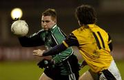 25 February 2006; Kevin McGourty, QUB, in action against Brendan Egan, DCU. Datapac Sigerson Cup Final, Queens University, Belfast v Dublin City University, Parnell Park, Dublin. Picture credit: Damien Eagers / SPORTSFILE
