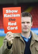 27 February 2006; GPA Chief Executive, Dessie Farrell, at the launch of a major educational initiative to show Racism the Red Card in Ireland, which is a campaign aimed at getting the anti-racism message across through the medium of education and sport. Tolka Park, Dublin. Picture credit: Damien Eagers / SPORTSFILE