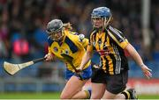 4 May 2014; Ann Dalton, Kilkenny, in action against Kate Lynch, Clare. Irish Daily Star National Camogie League Division 1 Final, Kilkenny v Clare, Semple Stadium, Thurles, Co. Tipperary. Picture credit: Diarmuid Greene / SPORTSFILE