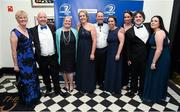 3 May 2014; Leinster supporters, from left, Sarah & Mike Whelan, Rebecca Leggett, Mary McKeever, Nick Wheeler, Nick Wheeler, Louise Doherty, Caroline Duffy, Barry McHugh & Elaine Cully at the Leinster Rugby Awards Ball. The annual Leinster Rugby Awards Ball Awards Ball took place in the Mansion House, Saturday evening where Jack McGrath was awarded the Bank of Ireland Leinster Rugby Players' Player of the Year and Marty Moore was awarded the Best Menswear Young Player of the Year award. Risteard Cooper was the Master of Ceremonies on a great night which also acknowledged the outstanding contributions of Leo Cullen and Brian O'Driscoll as they retire at the end of the season. For a full list of award winners and more information log on to www.leinsterrugby.ie. Picture credit: Stephen McCarthy / SPORTSFILE