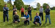 6 May 2014; Senior footballers, back row, from left to right, Leighton Glynn, Wicklow, Alan Mulhall, Offaly, Shane Lennon, Louth, Conor Gillespie, Meath, Patrick Collum, Longford and Eoin Doyle, Kildare. Front row, from left to right, Ben Brosnan, Wexford, James McCarthy, Dublin, and Ross Munnelly, Laois, in attendance at the launch of the Leinster Senior Championships 2014. Farmleigh House, Dublin. Picture credit: Barry Cregg / SPORTSFILE