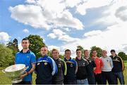 6 May 2014; Senior footballers, from left to right, James McCarthy, Dublin, Ross Munnelly, Ben Brosnan, Wexford, Laois, Leighton Glynn, Wicklow, Eoin Doyle, Kildare, Alan Mulhall, Offaly, Shane Lennon, Louth, Patrick Collum, Longford, and Conor Gillespie, Meath, in attendance at the Launch of the Leinster Senior Championships 2014. Farmleigh House, Dublin. Picture credit: Barry Cregg / SPORTSFILE