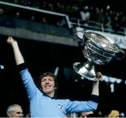 22 September 1974; The Dublin captain Sean Doherty lifts the Sam Maguire Cup. All Ireland Senior Football Championship Final, Dublin v Galway. Croke Park, Dublin. Picture credit: Connolly Collection / SPORTSFILE