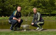 6 May 2014; Senior footbalers Alan Mulhall, Offaly and Ben Brosnan, Wexford, in attendance at the Launch of the Leinster Senior Championships 2014, Farmleigh House, Dublin. Picture credit: Barry Cregg / SPORTSFILE