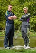 6 May 2014; Senior footballers Alan Mulhall, Offaly, and Ben Brosnan, Wexford, in attendance at the launch of the Leinster Senior Championships 2014. Farmleigh House, Dublin. Picture credit: Barry Cregg / SPORTSFILE